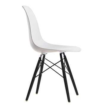 Vitra - Eames Plastic Side Chair DSW, Marple black / white