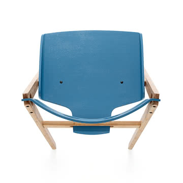 We do wood - Dining Chair no. 1 blue, top view