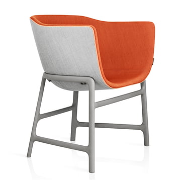 Fritz Hansen - Minuscule Chair, grey 123, orange 443