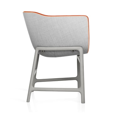 Fritz Hansen - Minuscule Chair, grey 123, orange 443 - lateral