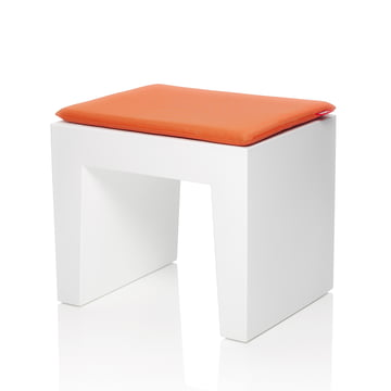 Fatboy - Concrete seat, white, cushion mandarin-orange