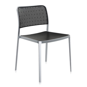 Kartell - Audrey Chair, without arm-rest, aluminium / black