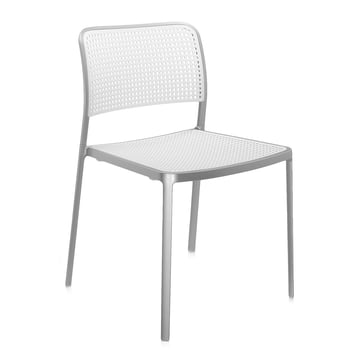 Kartell - Audrey Chair, without arm-rest, aluminium / white