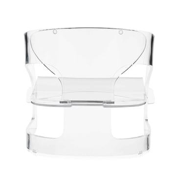 Kartell - Joe Colombo Armchair, transparent - backside