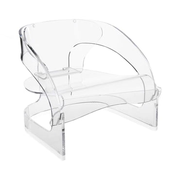 Kartell - Joe Colombo Armchair, transparent - inclined