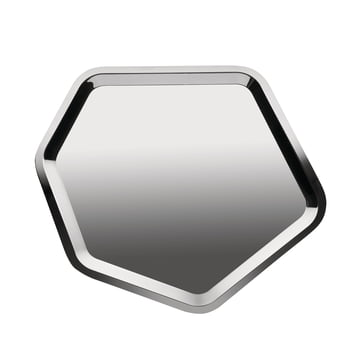 Alessi - Territoire, tray hexagonal, stainless steel, shiny