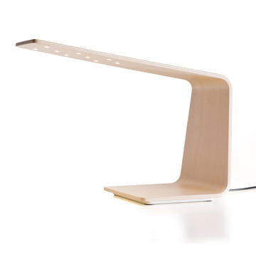 Led 1 table lamp by Tunto in birch wood