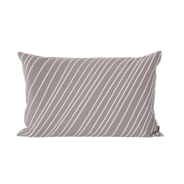 Striped Cushion by ferm Living in Grey and White