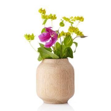 Applictata - Poppy Vase small, oak, flowers