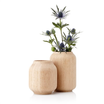 Applictata - Poppy Vases, oak, flowers