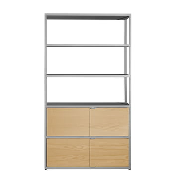 Hay - New Order Shelf, vertical, light grey, oak