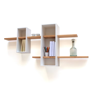 Edition Compagnie - Max shelf, white / beech