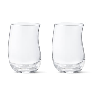 Georg Jensen - Cobra Drinking Glass 0.35 l (set of 2 ), free