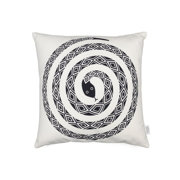 Vitra - Graphic Print Pillow - Snake 40 x 40 cm, black