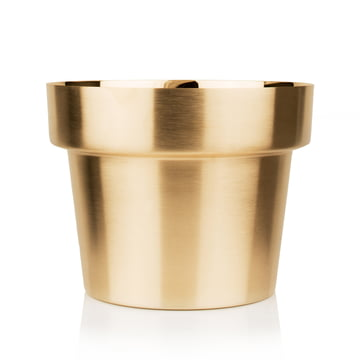 Skultuna - Flower Pot medium, brass brushed