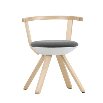 Artek - KG 001 Rival Chair Low Birch, white, black / white