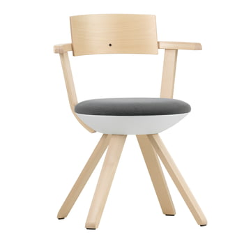 Artek - KG 002 Rival Chair High Birch, white, black / white