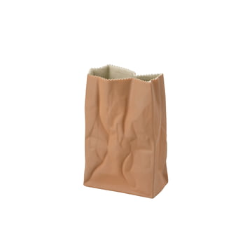Rosenthal - Paper Bag Vase, 18 cm, light brown