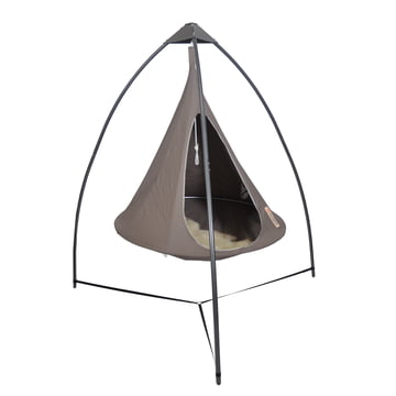 "Cacoon - Tripod for Swing Chair, metal / hanging chair ""Single"", taupe"