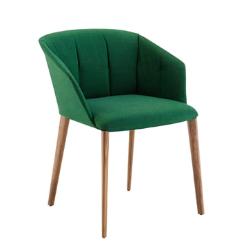 Zanotta - Liza Armchair 2271, oak / green