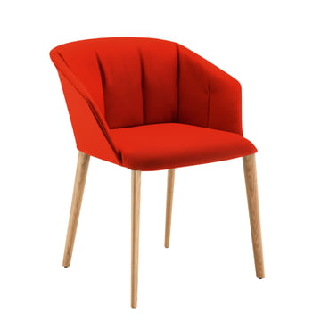 Zanotta - Liza Armchair 2271, oak / red