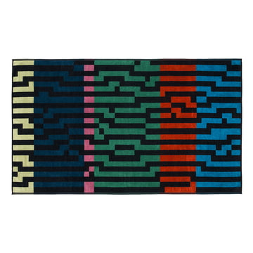 Multicolour Waves Beach Towel , 100 × 180 cm