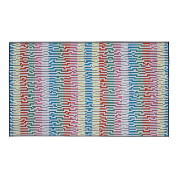 Mini White Waves Beach Towel , 100 × 180 cm
