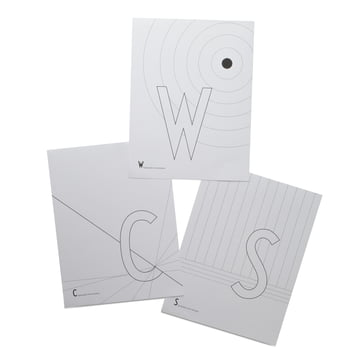 AJ colouring book pages C, S and W by Design Letters