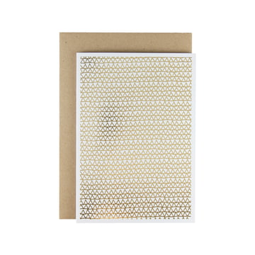 Karte - Shaking Through gold Greeting Card