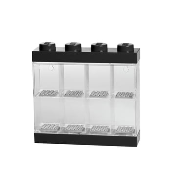 Lego - Storage Box & Minifigure Display Case 8, black