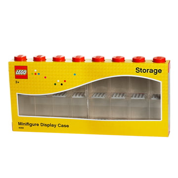 Lego - Storage Box & Minifigure Display Case 16 red
