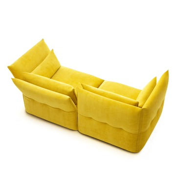 Mariposa sofa 2-seater by Vitra in yellow