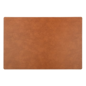Work mat Square XXL 54 x 74 cm made of natural Bull leather with white stitching