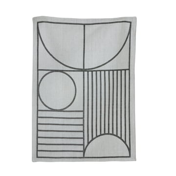 Outline Tea Towel by ferm Living in Black