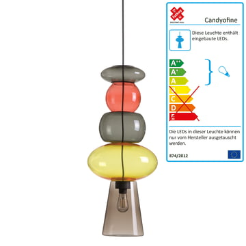 Candyofnie pendant lamp by Fatboy with 5 candies