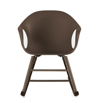 Kristalia - Elephant rocking chair in dark brown