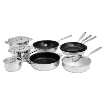 Fiskars - All Steel product family with pots, pans and wok