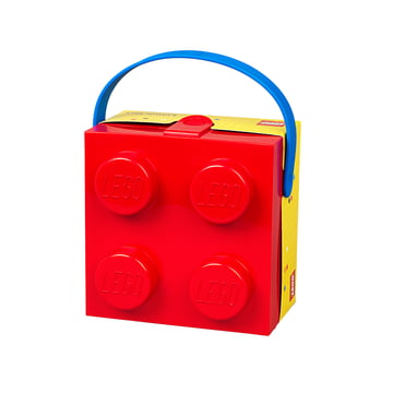 Lunch Box with handle by Lego in red