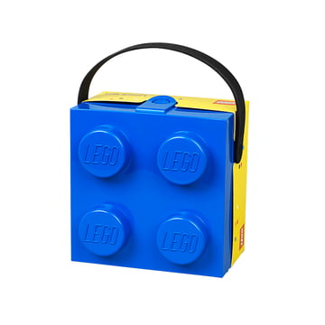Lunch Box with handle by Lego in blue and yellow