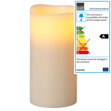 Klein & More - LED Pure Wax Candle, ivory XL 2-4
