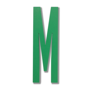 Design Letters - Wooden Letters Indoor M in green