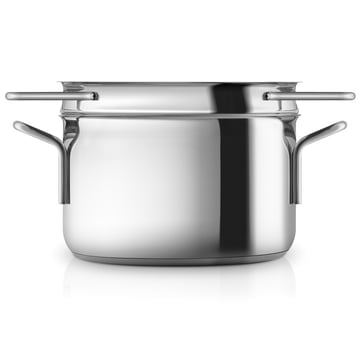 Stainless steel pot with pasta colander by Eva Trio