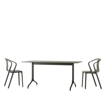 Vitra - Belleville dining table indoor, rectangular, 160 x 75 cm