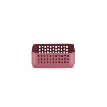 Nic Nac Organizer 10.5 x 10.5 x h4 by Normann Copenhagen in dark red