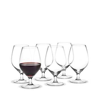 Royal red wine glass, 39 cl (set of 6) by Holmegaard