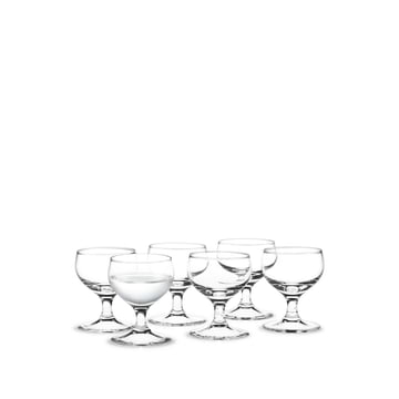 Royal spirits glass, 6 cl (set of 6) by Holmegaard