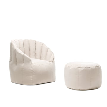 Shell Pouf with Armchair by Sitting Bull