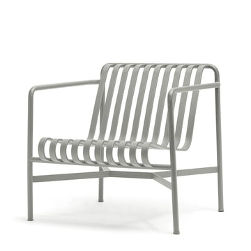 Hay - Palissade lounge chair low, light grey