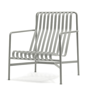 The Palisade lounge chair high by Hay in light grey