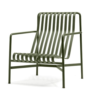 The Palissade lounge chair high by Hay in olive